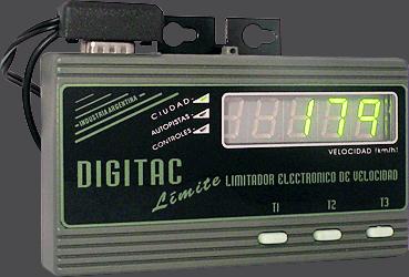 Limitador de velocidade - DIGI TAC Límite - Controles e display