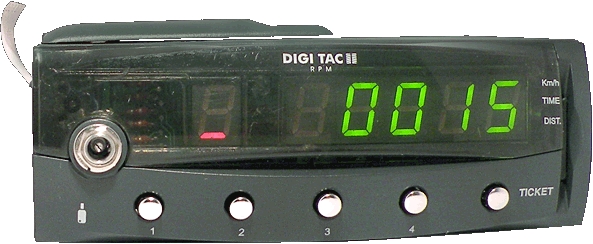 Tacógrafo digital - DIGI TAC RPM II - Controles e display