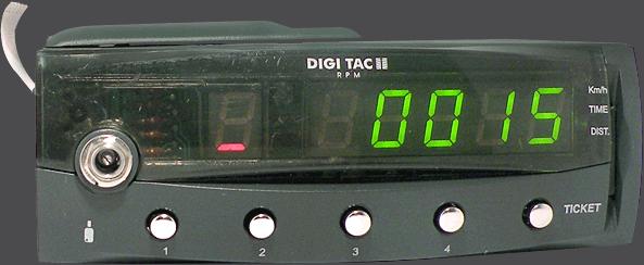 Tacógrafo digital - DIGI TAC RPM II - Controles y display